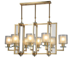 Подвесная люстра Lumina Deco Manhattan LDP 8012-8P FGD